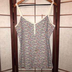 OLD NAVY lace trim floral tank